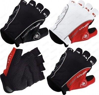 New Castelli Rosso Corsa Bicycle half finger Cycling Gloves mountain bike gloves