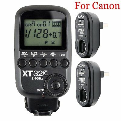 Godox XT32C 2.4G HSS Flash Trigger Transmitte​r for Canon + 2PCS XTR-16 Receiver