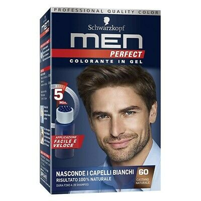 TESTANERA colorante capelli gel no ammoniaca men perfect n 60 castano naturale