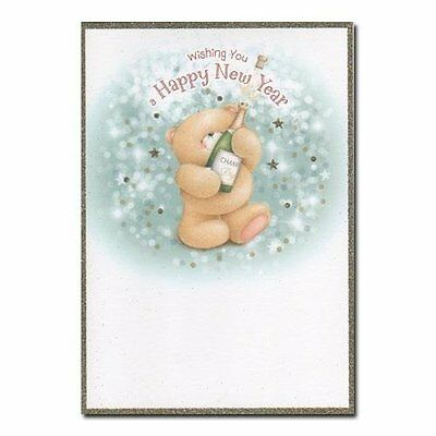 Happy New Year Forever Friends Card - Festive Greetings Celebration