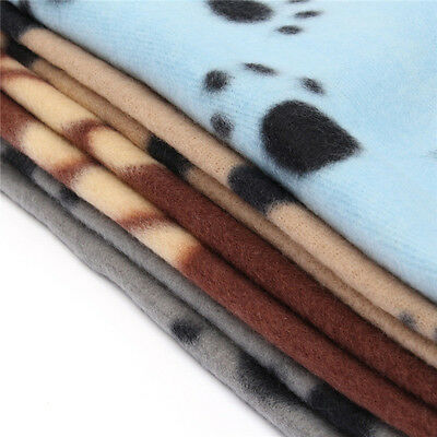 Hot Warm Paw Print Soft Pet Dog Cat Puppy Fleece Soft Blanket Mat Cover Cushion