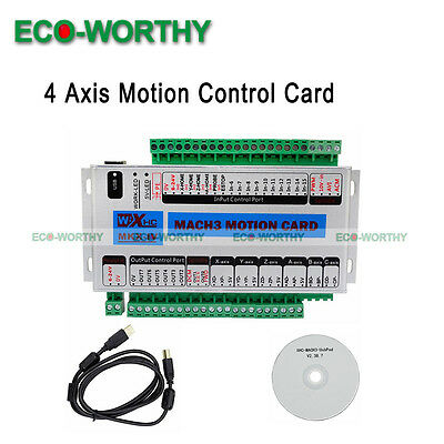 4 Axis CNC Mach3 Motion Controller Card Breakout Interface Board for Milling