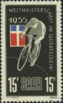 Saar 357 (complete issue) used 1955 cycling