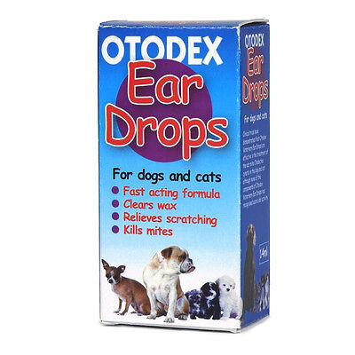 Otodex Vet Ear Drops Solution for Cats & Dogs Ear Care 14ml