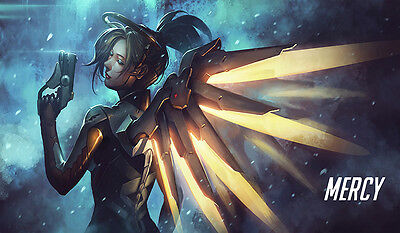 F327 Free Mat Bag Yugioh Play Mat Overwatch Mercy Playmat Large Game Mouse Pad