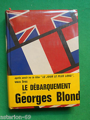 Le Debarquement 6 Juin 1944 Georges Blond Wwii Cartonnage Toile