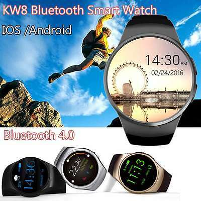 KW18 Bluetooth Smart Watch Heart Rate Monitor For Apple IOS /Android Black Color