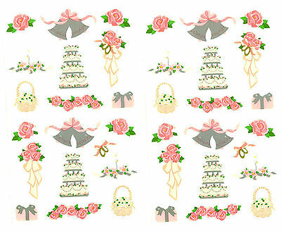 Wedding Day 2 Sheets Mrs Grossmans Stickers Cake Bells Doves