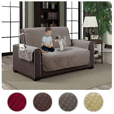 Slipcover Microfiber Reversible Pet Dog Couch Protector Cover Love Seat