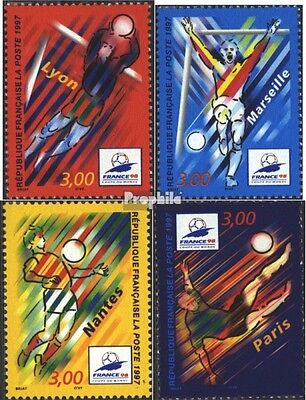 France 3218-3221 (complete issue) used 1997 Football-WM