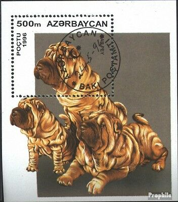 Aserbaidschan block22 (complete issue) used 1996 Puppies