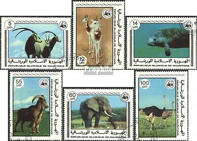 Mauritania 595-600 (complete issue) used 1978 Endangered Specie