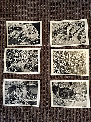 Vintage Miniature Post Cards Beatushohlen Switzerland Collectible Small BW