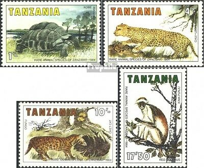Tanzania 258-261 (complete issue) unmounted mint / never hinged 1985 Animals of