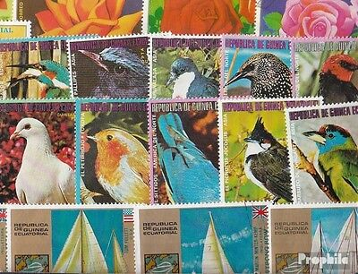 Equatorial-Guinea 200 different stamps