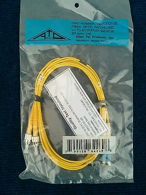 Allen Tel Products GBLCT-D1-02 Fiber Optic PatchCord LC To ST Duplex SM 9/125