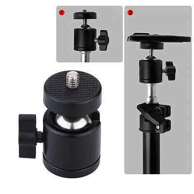 "360° Swivel Mini Ball Head Bracket Holder Mount 1/4"" Screw for Camera Tripod CN"