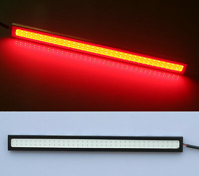 1x Red 17CM COB 6W LED Strip Daytime Running DRL Light Waterproof Black Case