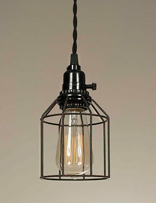 Vintage Shabby Chic Rustic Brown/Green Wire Pendant Lamp Ceiling Light Hanging