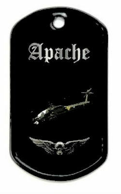 Boeing Apache Attack Helicopter Army Pilot Battle Black Wing Crew Night Dog Tag
