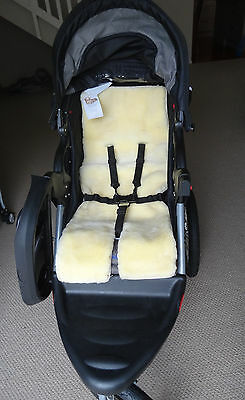 Genunie New Zealand Sheepskin Baby Buggy Liner Stroller Pushchair Pram Liner