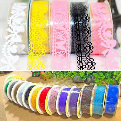 Lace Sticky Paper SELF-adhesive Washi Tape Sticker Scrapbooking Decorative DIY