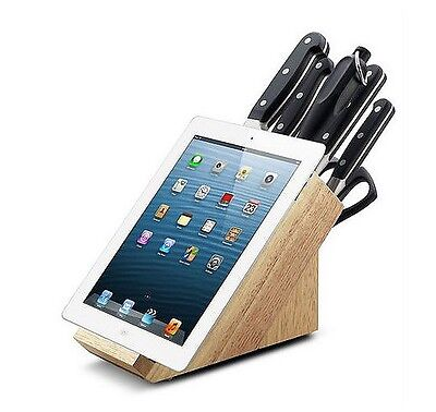Set di coltelli professionali con ceppo in legno con porta ipad Made in Germania