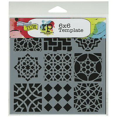 """""""Crafter's Workshop Template 6""""""""X6""""""""-Moroccan Tiles, Set Of 3"""""""