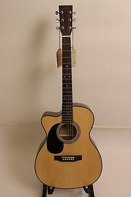 SIGMA Gitarre / Guitar 000MC-1STEL LEFTHAND + Cut + Fishman / massive Decke
