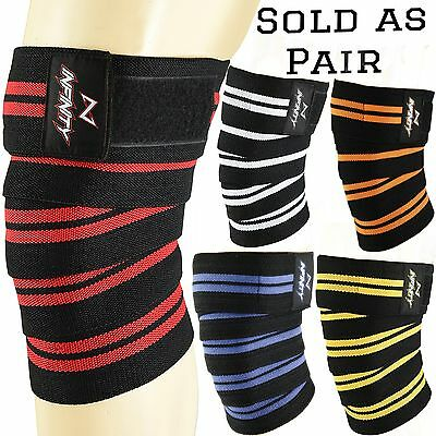 Infinity Knee wraps gym weightlifting power lifting bandage straps body building