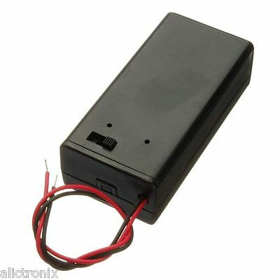 9V Battery Box Pack Holder With ON/OFF Power Switch Toggle