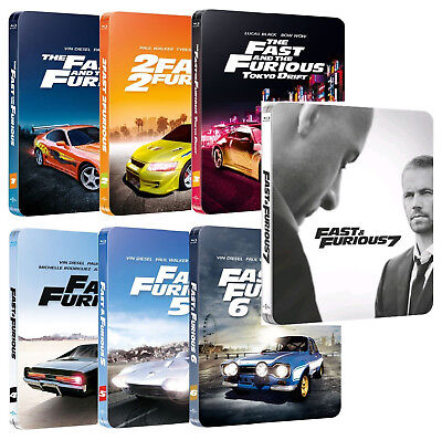 Fast And Furious Collection (7 Blu-Ray) Edizioni Steelbook Blu-Ray