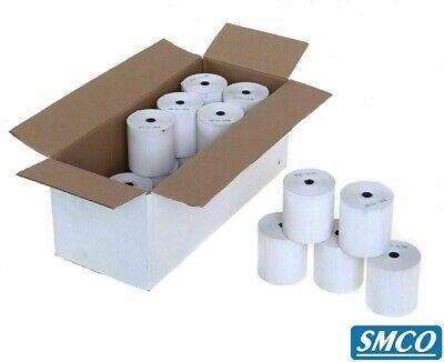 CASIO 140CR TILL ROLLS FOR CASH REGISTER Receipt PLAIN PAPER 57mm 1 Ply BY SMCO