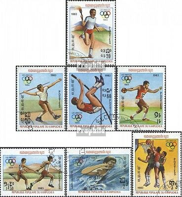 Cambodia 454-460 (complete issue) used 1983 Olympics Summer 198