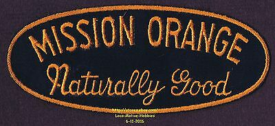 LMH Patch  MISSION ORANGE Soda Pop Beverage NATURALLY GOOD Uniform Drink 7-3/8""