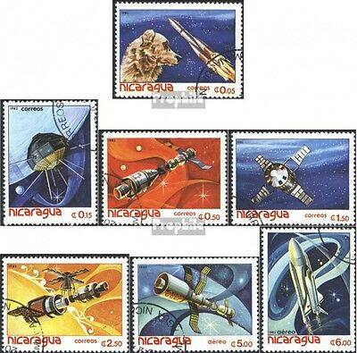 Nicaragua 2261-2267 (complete issue) used 1982 World Space