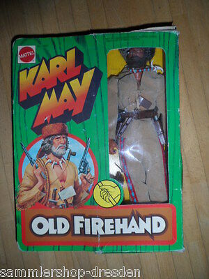 Mattel Karl May Old Firehand  OK  boxed Figur ungespielt box damaged unused