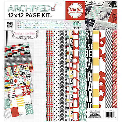 Teresa Collins ARCHIVED 12x12 PAGE KIT scrapbooking Papers & Sticker Sheets