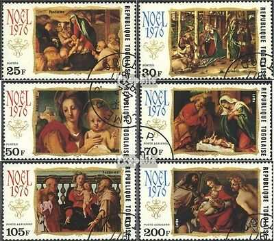 Togo 1194A-1199A (complete issue) used 1976 christmas 1976