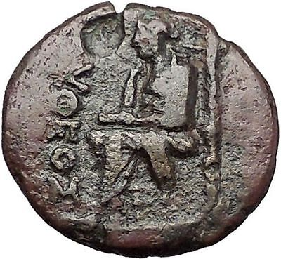 KOLOPHON in IONIA 1CenBC Poet Homer of ODYSSEY Apollo Ancient Greek Coin i55419