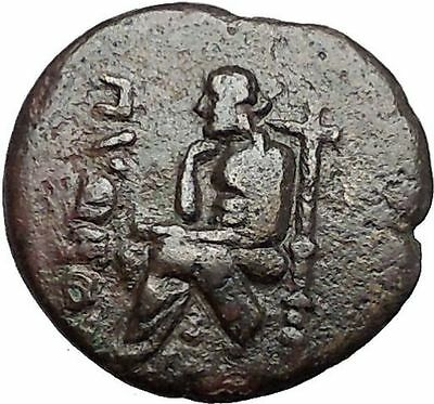 KOLOPHON in IONIA 1CenBC Poet Homer of ODYSSEY Apollo Ancient Greek Coin i55411