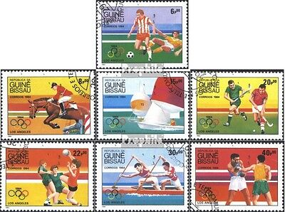 Guinea-Bissau 765-771 (complete issue) used 1984 Summer Olympic