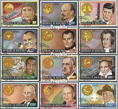 Upper Volta 483-494 (complete issue) used 1973 Personalities