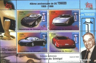 senegal block83 (complete issue) used 1999 automobile manufactu