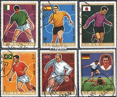 Ajman 525A-530A (complete issue) used 1970 Football-WM ´70, Mex
