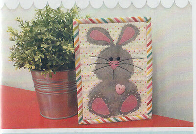 SALE - PATTERN - Easter Bunny Mug Rug - cute applique PATTERN - Stitches of Love