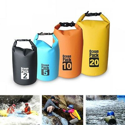 New Waterproof Pouch  Dry Pack Shoulder Bag Boating Kayaking Drifting Camping