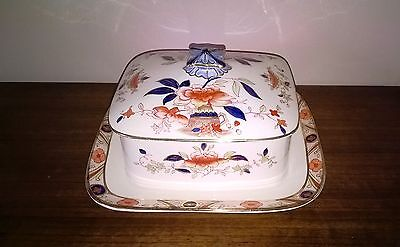 Butter - Cheese Dish - Burleigh Ware - Vintage - Japonica - Rare Collectable -