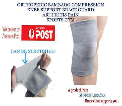 Orthopedic Bamboo Compression Knee Support Brace Guard Arthritis Pain Sports Gym