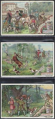 Liebig-*s0546*-Full Set Of 6 Cards- German - A Successful Hunting Expedition Ii